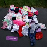 9 month girls clothing lot in Joliet, Illinois