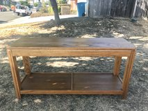 Oak couch table in Travis AFB, California