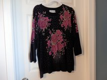 Black with roses sweater in Chicago, Illinois
