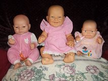 3  real old baby dolls in Cleveland, Texas