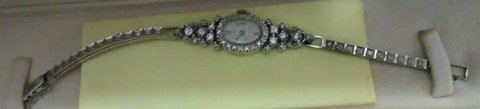 14K White Gold Diamond Watch in Fort Benning, Georgia