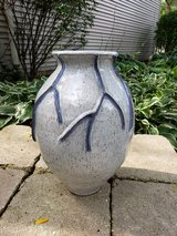 Large clay vase in Plainfield, Illinois