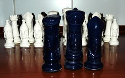 Handmade chess pieces in Ramstein, Germany