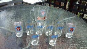 Chicago Cubs Budweiser Beer Glasses & Pitcher Set in Glendale Heights, Illinois