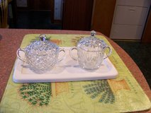 Two Vintage Glass Sugar Bowls With Lids $5 each in Joliet, Illinois