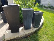 Contemporary Metal Planters in Joliet, Illinois