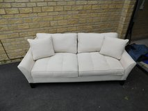 White Faux Suede Couch in Lakenheath, UK