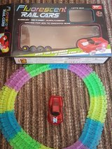 Light up moving toy car and track in Lakenheath, UK