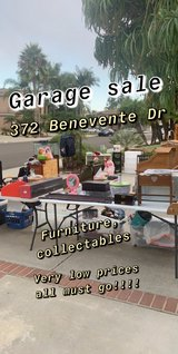 Garage sale in Camp Pendleton, California