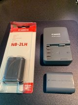 Canon NB-2LH - Plug in Battery Charger and 2 Batteries in Kingwood, Texas