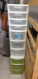 2 plastic bins with drawers in Ramstein, Germany