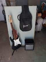 Ibanez Gio electric guitar and amp in 29 Palms, California