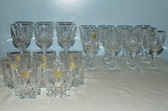 Vintage French Lead Crystal Wine Water & Tumbler glass Set Salem Pattern 26 Pcs in Westmont, Illinois