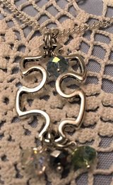 Autism Puzzle Piece Pendant on Stainless Chain Czech Crystal Accent beads in Kingwood, Texas
