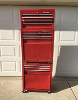 HEAVY DUTY WORKING 3 SECTION CRAFTSMAN TOOL BOXES WITH LOCKING KEYS GOOD CONDITION READY FOR WORK in Yorkville, Illinois
