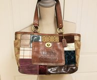 Coach Signature Multicolor Patchwork Tote Suede Leather Gallery Purse G0773-11358 Holiday Limite... in Houston, Texas