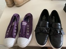 Two pairs of shoes converse and Michael kors in Okinawa, Japan