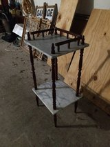OBO Small MARBLE telephone table or charging table or plant stand in Kingwood, Texas
