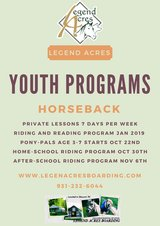 Pony-Pals age 3-7 Riding Program Oct 22 for 5 Weeks in Fort Campbell, Kentucky