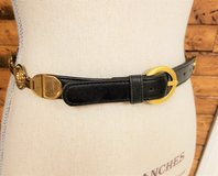 "S/M Gold Tone Black Lion Chain Women's Belt 28"" 29"" 30"" Small Medium in Houston, Texas"