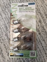 Meridian 4W Equivalent General Purpose Warm White C7 LED Light Bulb - 4 Pack in Naperville, Illinois