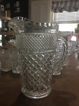 Vintage cut glass pitcher and glasses in Cleveland, Texas