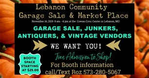Sell your stuff at the Lebanon Community Garage Sale & Market Place in Fort Leonard Wood, Missouri