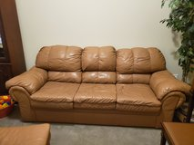 Leather Furniture--Couch, Love Seat, Chair (not shown in picture) and Ottoman in Kingwood, Texas