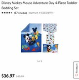 Mickey Mouse 4pc Toddler Bed Set in Okinawa, Japan