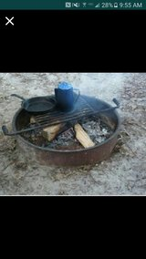fire ring with cooking grate in Yucca Valley, California