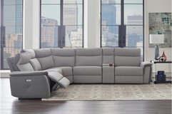 NEW! SALE! SKYMON UPSCALE POWER SOFA SECTIONAL WITH RECLINERS, TABLES, AND CONSOLE:) in Camp Pendleton, California