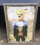 Hipster Fox with Wooden Frame in Fort Campbell, Kentucky