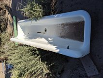 Trough urinal planter in Alamogordo, New Mexico