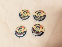 (4) 1968 George Wallace for President Republican Party America USA Button Pin in Kingwood, Texas