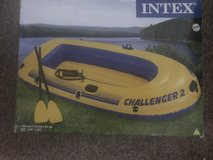 Inflatable boat with Oars (brand new never used) in Ramstein, Germany