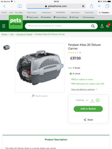 Brand new pet carrier (cat or small dog) in Lakenheath, UK