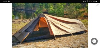 Battlbox single person tent in Fort Riley, Kansas