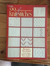 Instructional book of 99 different knitting stitches in Yorkville, Illinois