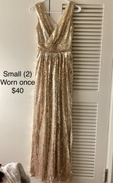Gold sequin dress (Small) in Okinawa, Japan