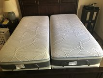 Twin XL Sealy Silver Adjustable Base and and Copper Plush Mattress in Alamogordo, New Mexico
