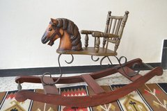 Antique Decorative Rocking Horse in Ramstein, Germany