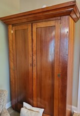 Solid Wood Armoire in Quad Cities, Iowa