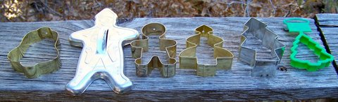 6 CHRISTMAS Cookie CUTTERS ~ Assorted in Alamogordo, New Mexico
