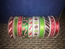 New!  10 Spools of Christmas Holiday Ribbon in Naperville, Illinois