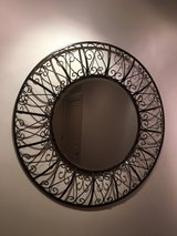 "Large 36"" Round Wall Mirror in Bellaire, Texas"