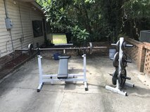 Bench and weight set in Beaufort, South Carolina