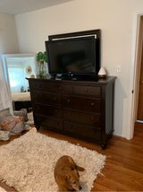 dresser with attached mirror in Cherry Point, North Carolina