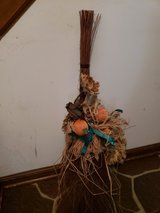 Free:  fall decoration cinnamon broom with raffia pumpkins, silk sunflowers in Glendale Heights, Illinois