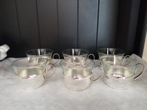 6 German glass silver plated cups in Fort Leonard Wood, Missouri