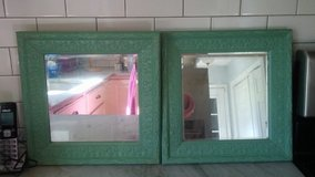Green mirrors from pottery barn in Wilmington, North Carolina